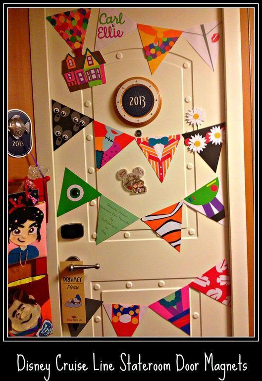 1. DCL - Fantasy - Stateroom door magnets - Disney Cruise Line Stateroom Door Magnets: