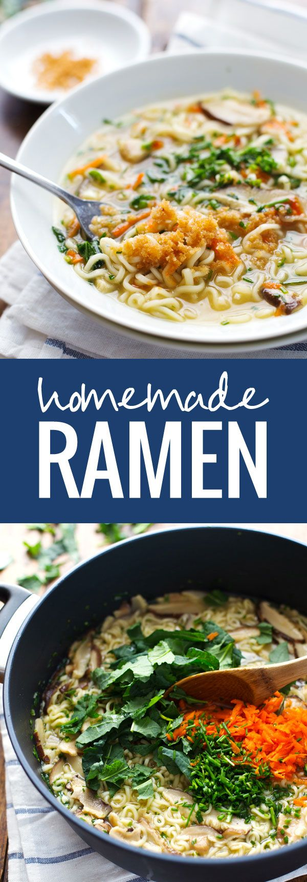Quick Homemade Ramen - comes to life with fresh vegetables and herbs in just in 20 minutes!   pinchofyum.com