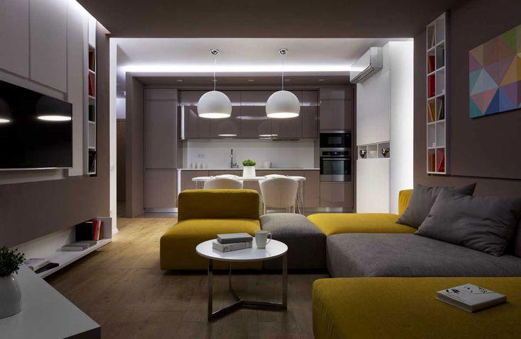 Sophisticate Moon Box Apartment in Kiev by Denis Rakaev