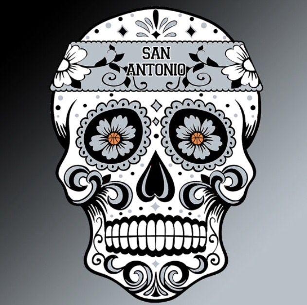San Antonio Spurs Sugar Skull Skull Coloring Pages