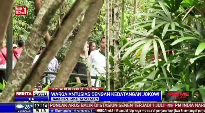 Presiden Joko Widodo berlibur ke kebun binatang Ragunan, Jaksel. #Primetime