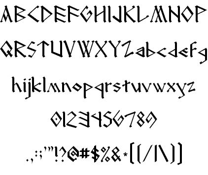 The font I used for the Dragon Manuals! FINALLY found it again!