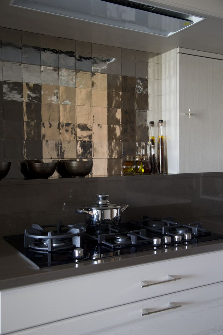 Dauby - Pure Tiles: 10x10cm white bronze, also available in aged iron ** www.dauby.be **