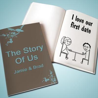 A custom love-book ($24.95) tracks your own personal love story.
