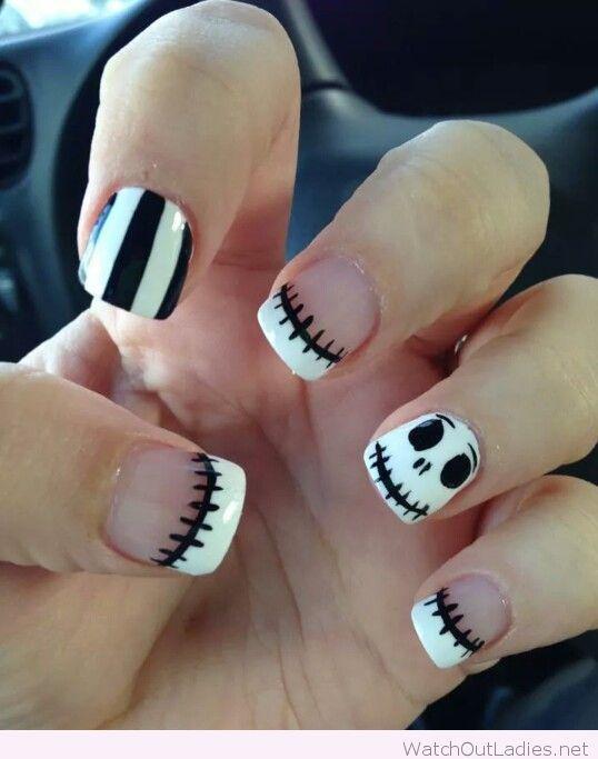 nightmare before christmas nails pepino nail art design