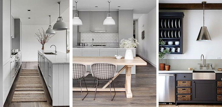 Muebles en tonos grises para decorar tu cocina el gris for Muebles para cocina df