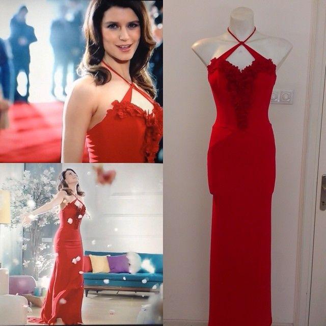Beren Saat in Ozgur Masur Dress for Duru Commercial