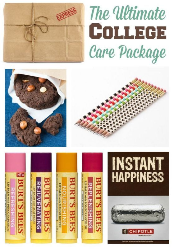 The Ultimate College Care Package | Find great ideas for your next college care package! You child or loved one will love your original ideas!