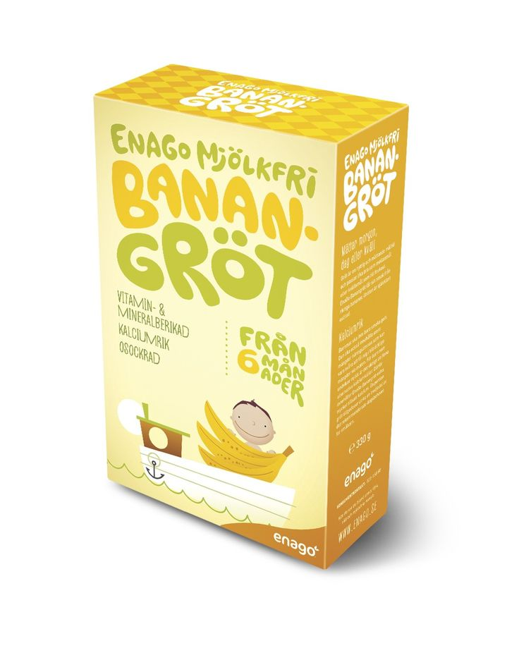EnaGo Banana porridge is based on cereals and bananas that gives a good taste. The porridge is of course unsweetened but the ingredients by themselves give a naturally sweet taste.