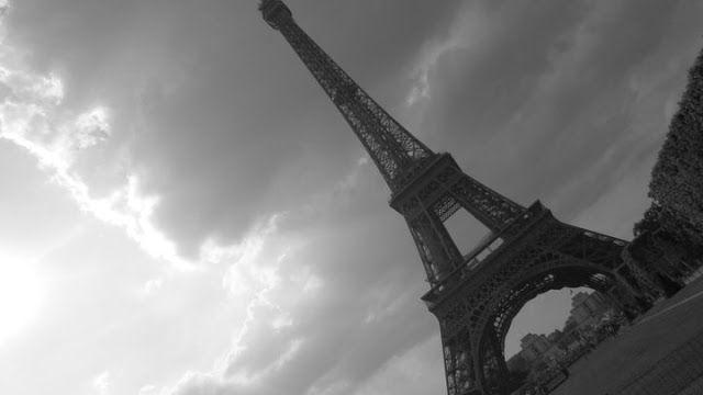 Eifel Tower. Paris. Grey skies.