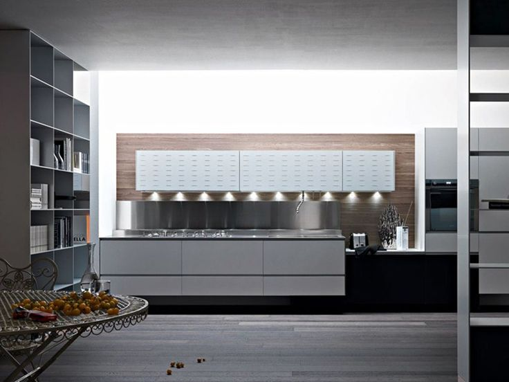 aluminium fitted kitchen riciclantica aluminium by valcucine, Kuchen