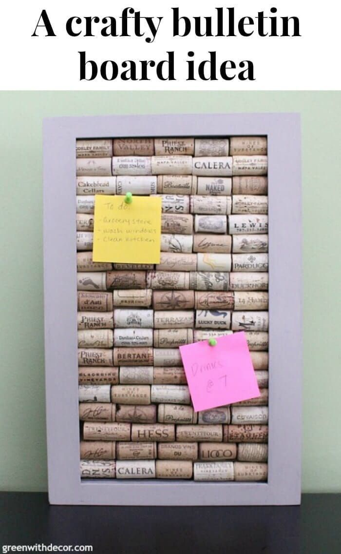 1521 best diy home projects images on pinterest ideas for Cork bulletin board ideas