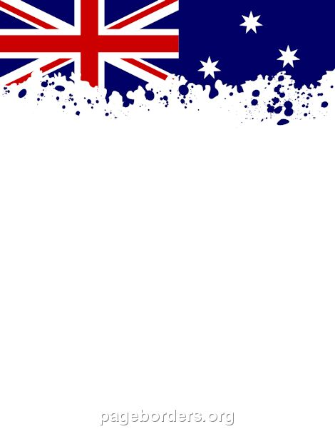 Printable Australian flag border. Use the border in ...