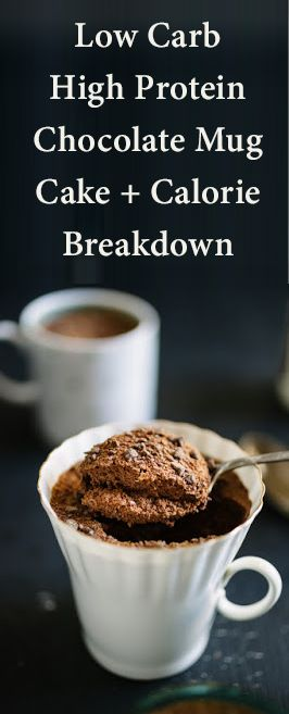 Low Carb High Protein Chocolate Mug Cake + Calorie Breakdown - MY BEST BADI