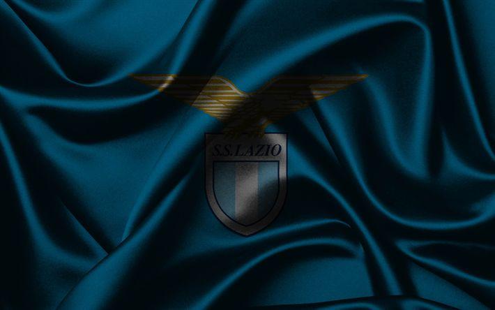 Descargar fondos de pantalla Lazio, de fútbol, de Roma, Italia, emblema de la Lazio, Serie a