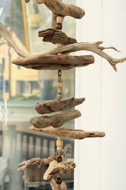 drift wood moble... i made one in the 80's and love watching it blowing in the wind.