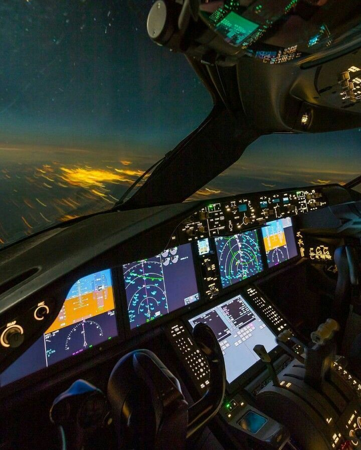 Fighterpilot Aviation Airplane Helicopter Cockpit Boeing 787