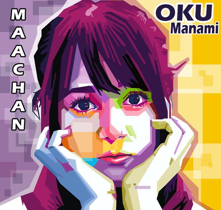 WPAP Oku Manami (Maachan) by Iqbal Dwi by iqbaldwi
