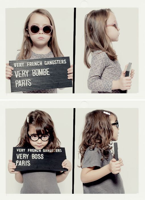 French Gangsters -- super hip sunnies and glasses for kids
