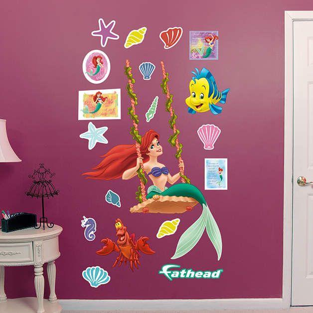 Fathead The Little Mermaid Ariel Swinging Decal   Wall Sticker Outlet