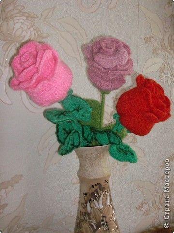Вязаные цветы крючком со схемами вязания Красивые
