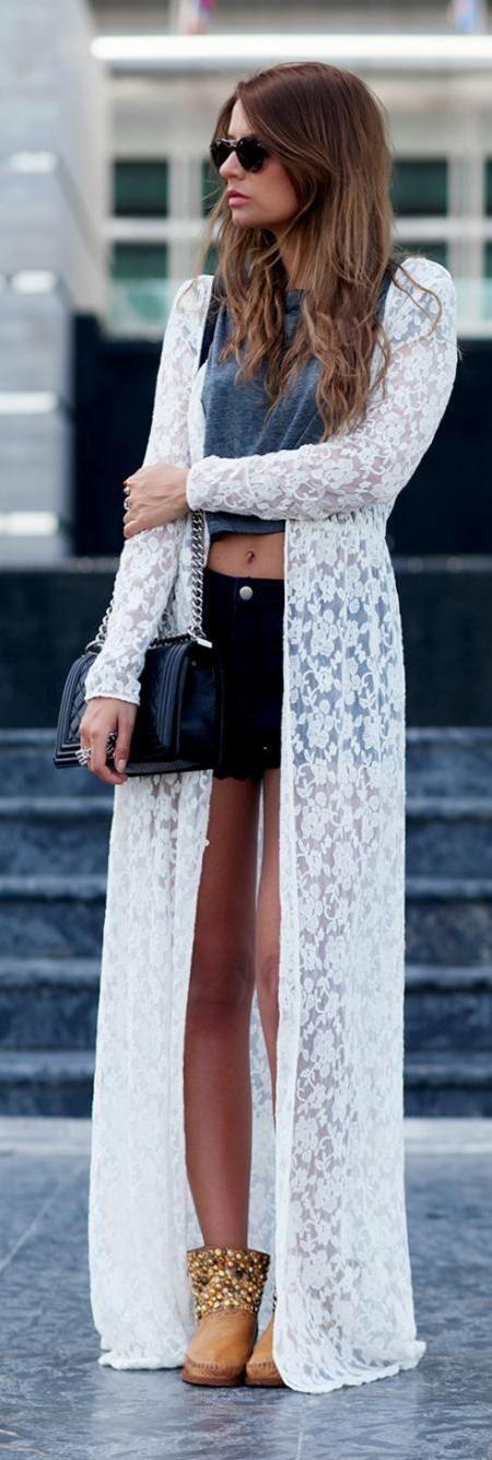 Best 25  Lace kimono outfit ideas on Pinterest | Kimono cardigan ...