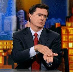 Stephen Colbert slow clap
