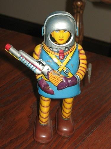 Vintage Haji Japan Space Trooper Tin Toy Spaceman Robot | eBay