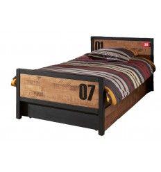 lit gigogne en bois massif pour chambre garon