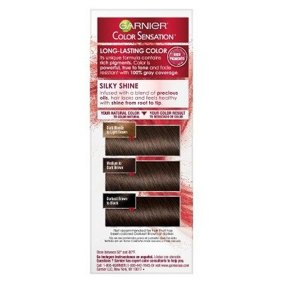 Garnier Color Sensation Hair Color Rich Long-Lasting Color Cream 4.0 Dark Brown