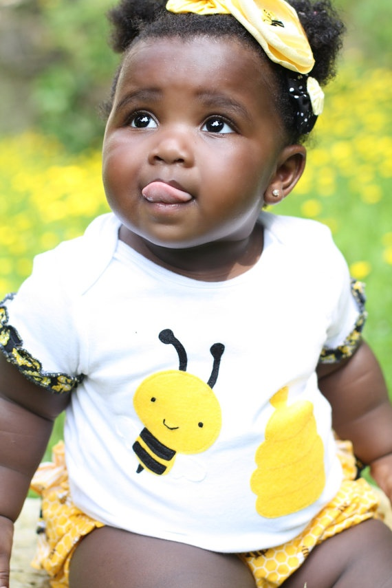 Infant Ruffled Diaper Cover or Bloomers and Bodysuit with HoneyBeesRuffles Diapers, Diapers Covers, Diaper Covers