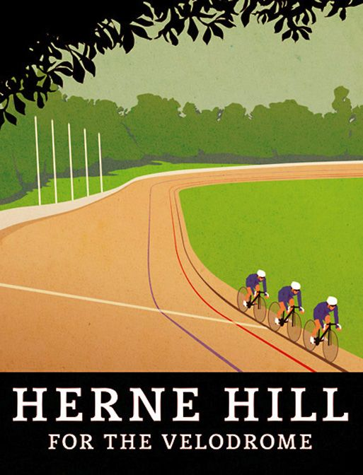 Herne Hill for the Velodrome Poster by Christian Statham (http://www.ltmuseumshop.co.uk £24.95)