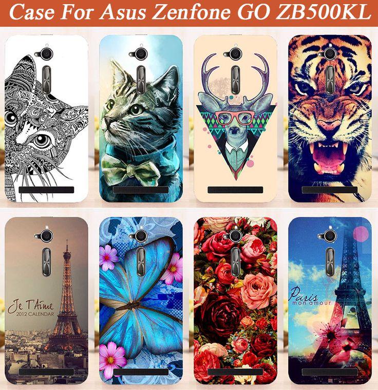 For asus zenfone go zb500kl Case Cover Diy UV Painting Colored Tiger Owl Case For asus zenfone go zb500kl 5.0 Inch Cover Sheer