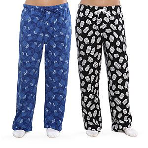 ThinkGeek :: Doctor Who Pajama Pants --- The ones with the bowties, fezzes, and logo on it... <3 I also love the blue ones.