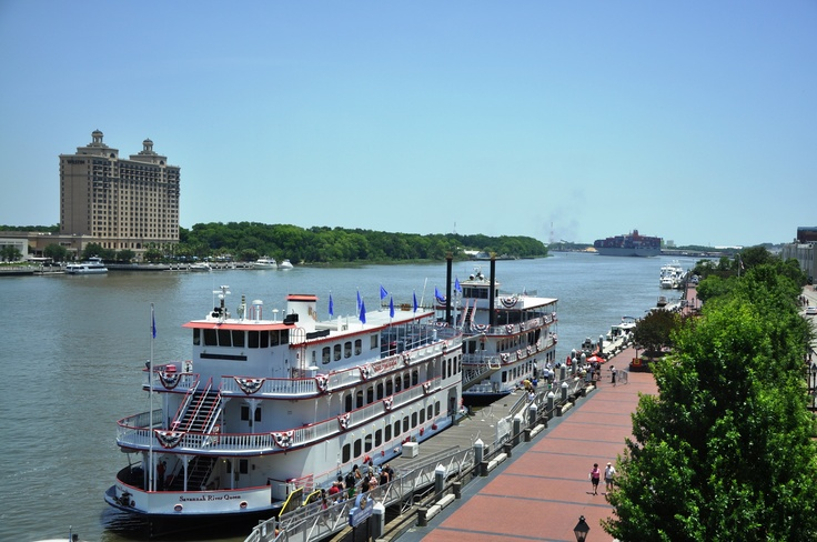 Savannah Riverboat Cruises Perfect Day To Sail Down The River Riverboat Pictures
