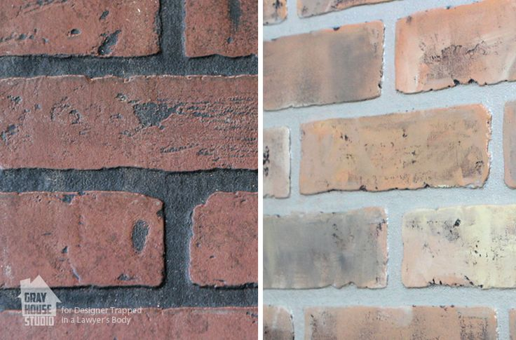 Faux wall panels 4 x 8 Painting a Faux Brick Accent Wall
