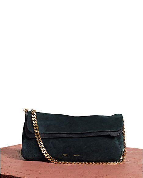 celine black suede handbag gourmette