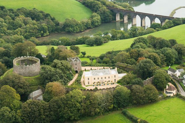 Trematon Castle, Trematon, Saltash, Cornwall, A Grade II listed Regency house within the bailey of a Norman castle