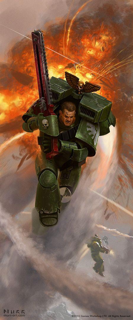 """haaaaaaaaave-you-met-ted: """" Warhammer 40K Dark Angel Assault Marine by JakeMurray """""""
