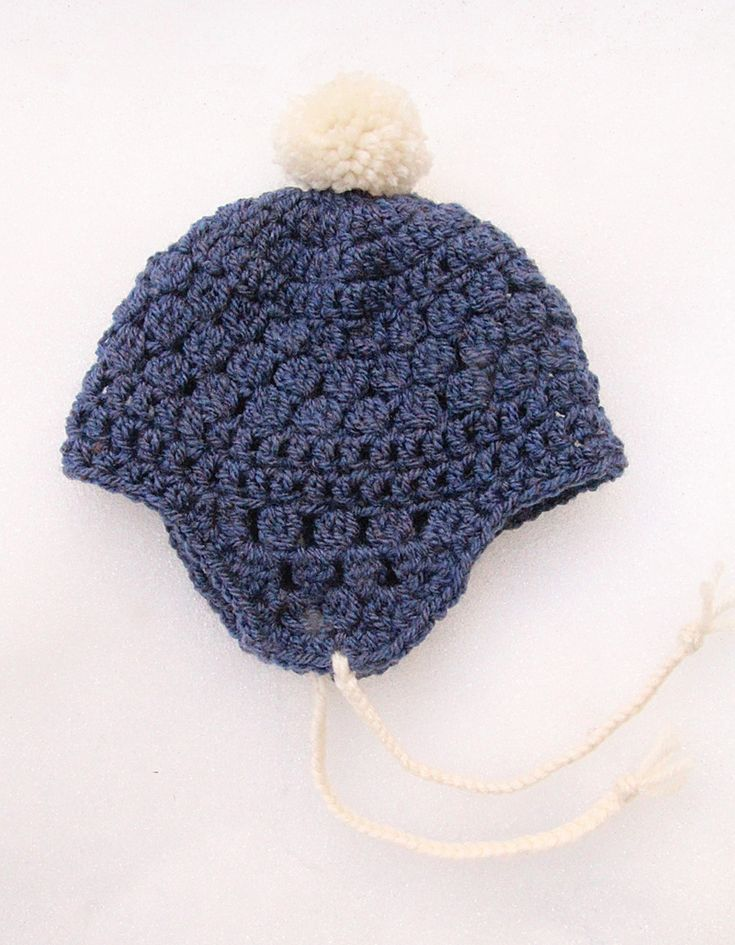 Crocheting Ear Flaps Hat : Crocheted Baby Hat With Ear Flaps Crochet Childrens Clothes Pint ...