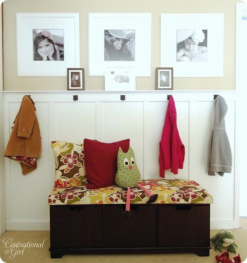 Wall: Cute Coats, Owl Pillows, Coats Hooks, Boys Bathroom, Rooms Storage, Photo Display, Mud Rooms, Boards And Batten, Front Entrance