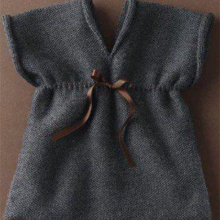 Kız Bebeklere Örgü Elbise Modelleri 141
