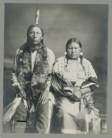 Little Shield and wife - Arapaho - 1900