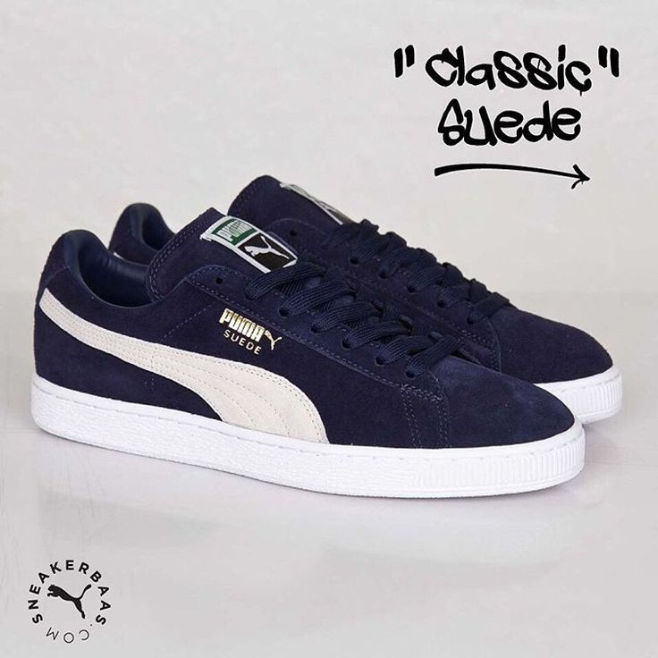 #puma #pumaclassic #pumasuede #NoMatterWhat #sneakerbaas #baasbovenbaas  Puma Classic Suede-The Puma Suede has been around since 1968 and is here to stay! This Puma sneaker has a great quality suede upper in blue with white detailing.  Now online available   Priced at 79.99 EU   Men Sizes 39- 47 EU
