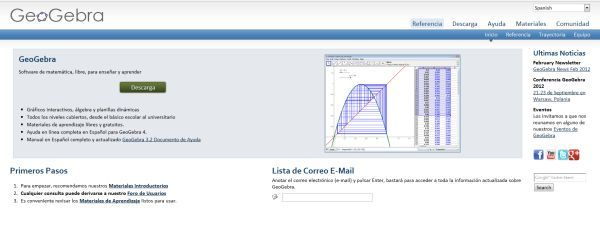 GeoGebra, para el aprendizaje de matemáticas, ya disponible en la web