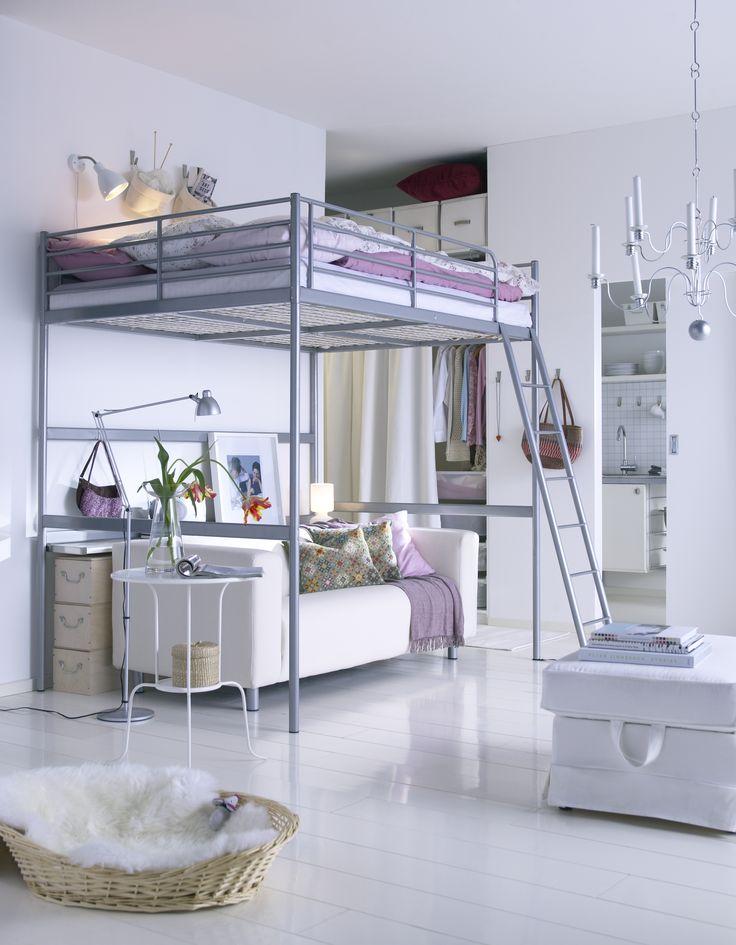 KLIPPAN bank | #IKEA #IKEAnl #slaapkamer #hoogslaper #bank #ruimte #wit #hoes #inspiratie #styling