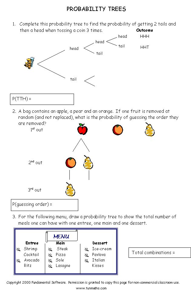 Free Math Worksheet From Www Funmaths Com Probability Worksheets Free Math Worksheets Free Math