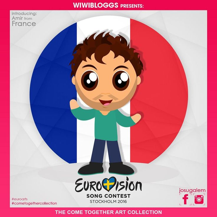 He's the one who's making us strong. He's a French-Israeli pop star with a heart of gold. He is @amir_officiel_! See more #eurovision cartoons at #cometogethercollection. Art by @josugalem. #eurovision2016