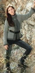 Схема вязания: Серый пиджак | Пуловеры спицами - petelka.net