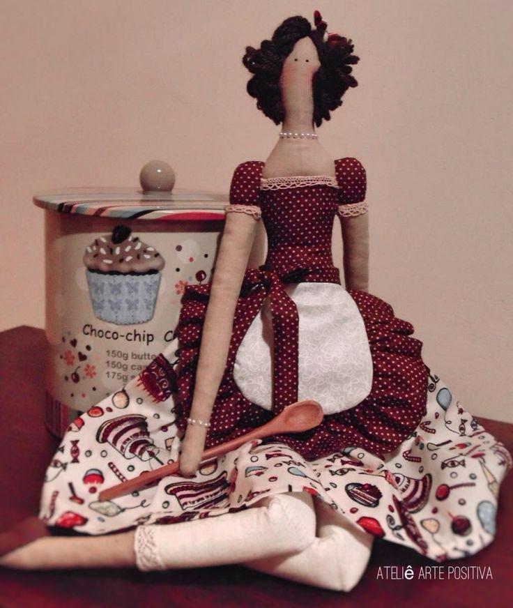 Tilda Cozinheira linda e fazeira para alegrar a decor de sua cozinha! <br> <br>Pronta Entrega!